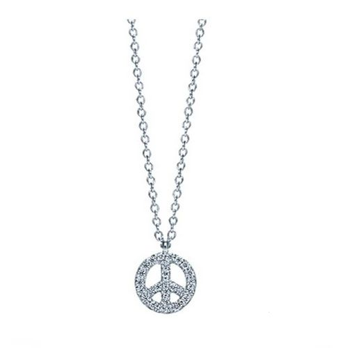 8519077d6 Tiffany Peace Sign Crystal Charm Necklace | Tiffany & Co.Necklaces ...