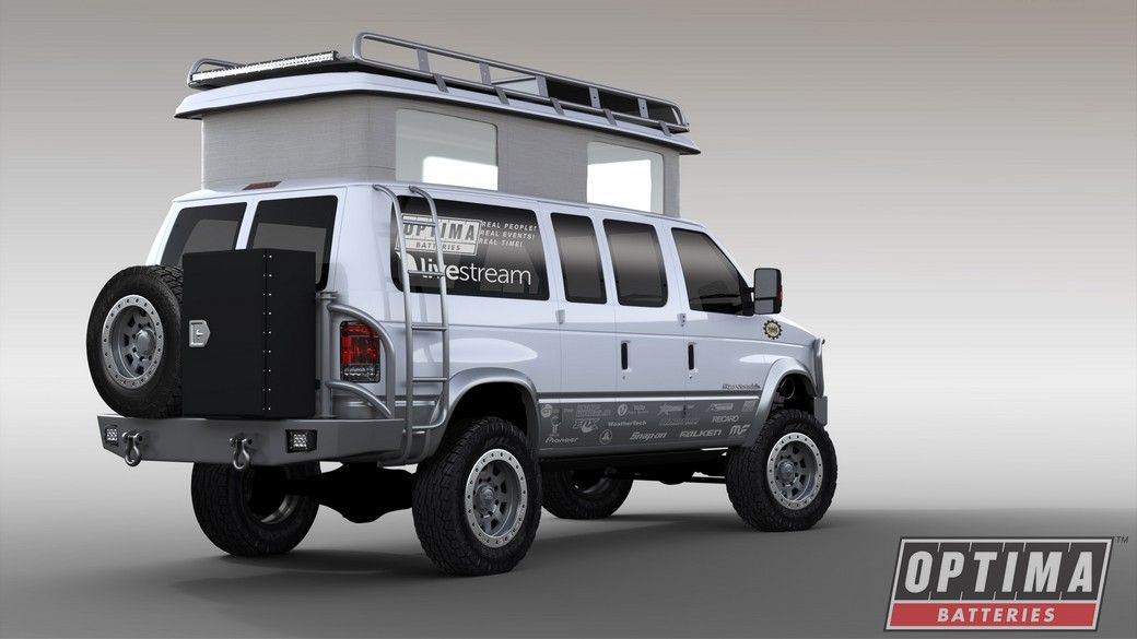 the optima batteries ujoint off road ford #econoline e350 4x4 van