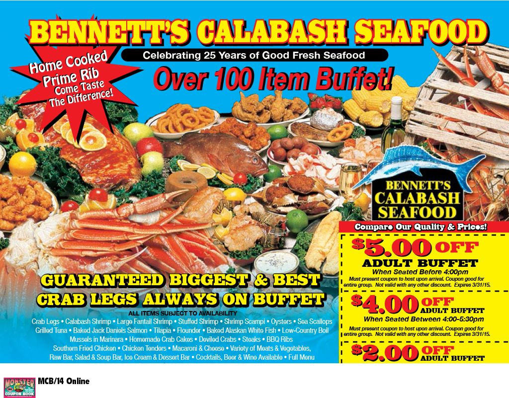 Enjoyable Bennetts Calabash Seafood Myrtle Beach Resorts Coupons Beutiful Home Inspiration Xortanetmahrainfo
