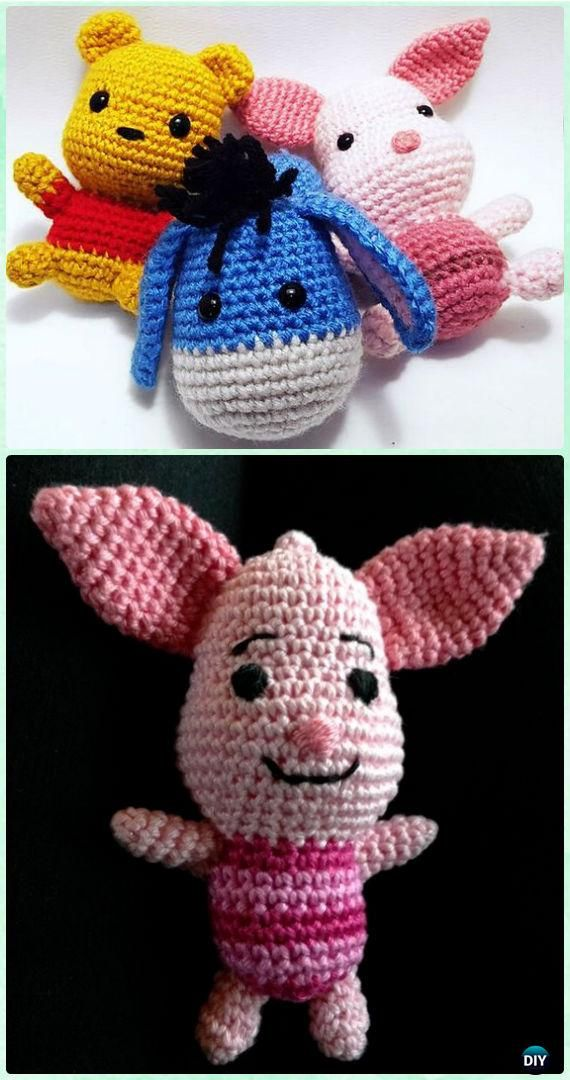 Crochet Amigurumi Winnie The Pooh Rabbit Free Pattern [Video ...