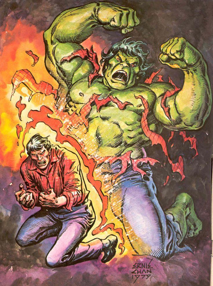 #Hulk #Fan #Art. (Bruce changing in to the Hulk!) By: Ernie Chan. (THE * 5 * STÅR * ÅWARD * OF: * AW YEAH, IT'S MAJOR ÅWESOMENESS!!!™)........
