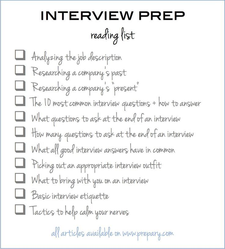 How To Prepare For An Interview Use This Easy Checklist  Job