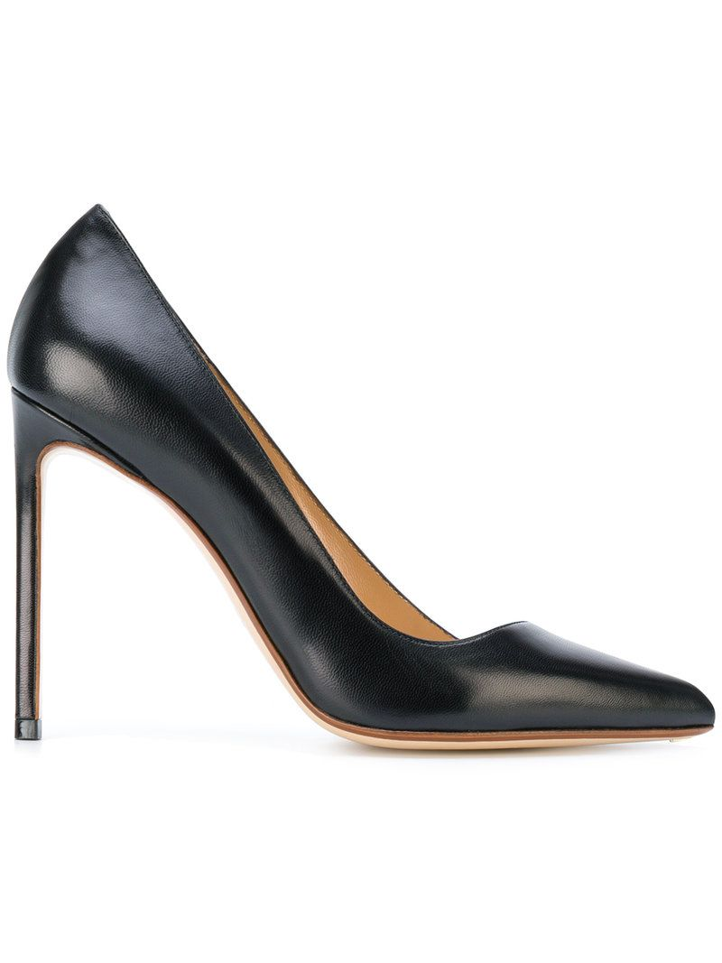 buckle-strap stiletto pumps - Black Francesco Russo fBXAC