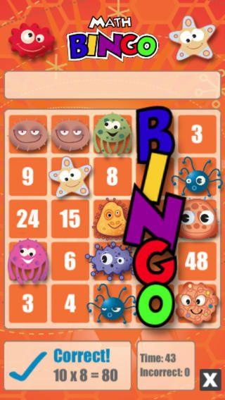 Math Bingo by ABCya.com - $0.99: get a bingo by answering ...