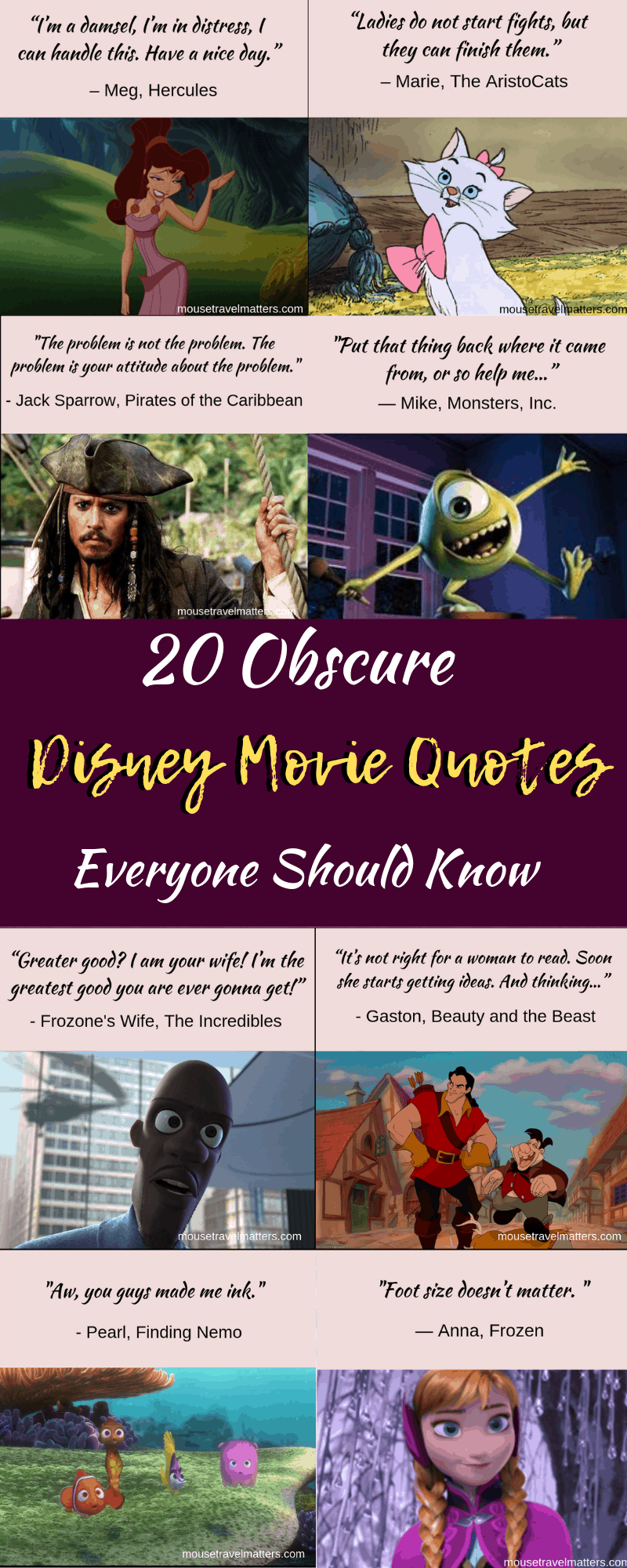 20 Obscure Disney Movie Quotes Everyone Should Know Mouse Travel Matters Disney Movie Quotes Disney Quotes Funny Movie Quotes Funny