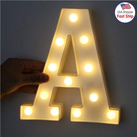 Decorative LED Illuminated Letter Marquee Sign - A