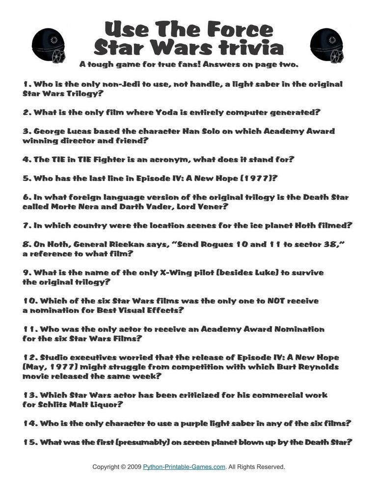 graphic regarding Star Wars Trivia Questions and Answers Printable identified as Pop Lifestyle Game titles: Star Wars Employ the service of The Tension Trivia, $1.95