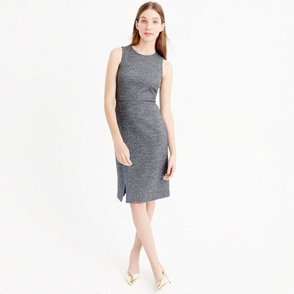 This superflattering fitted sheath dress (crafted from a lightweight four-season…