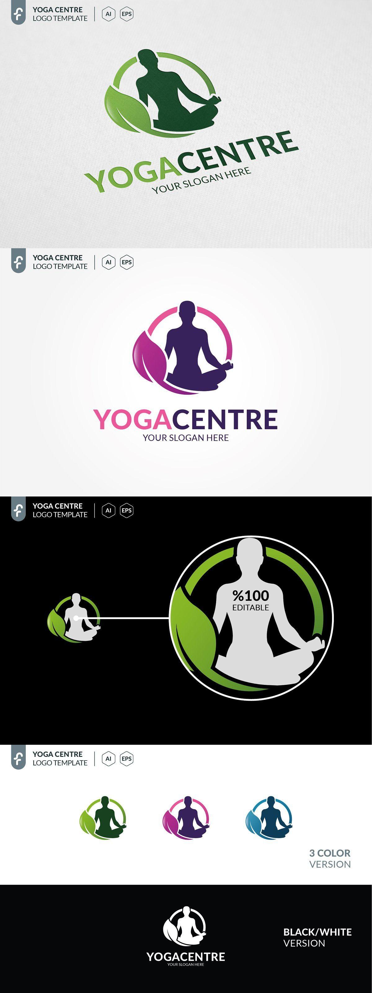 Yoga Centre Logo in 2020 Yoga design, Modern logo, Yoga