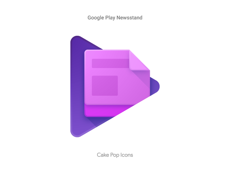 Google Play Newsstand   icons   App icon design, Icon design