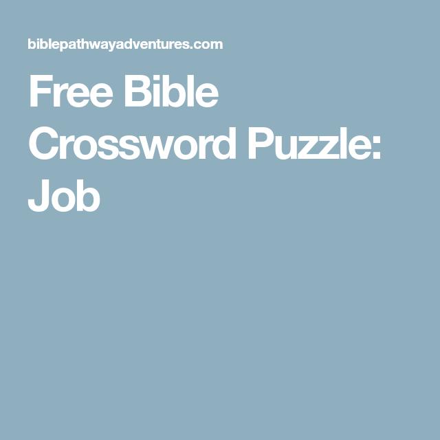 Free Bible Crossword Puzzle Job