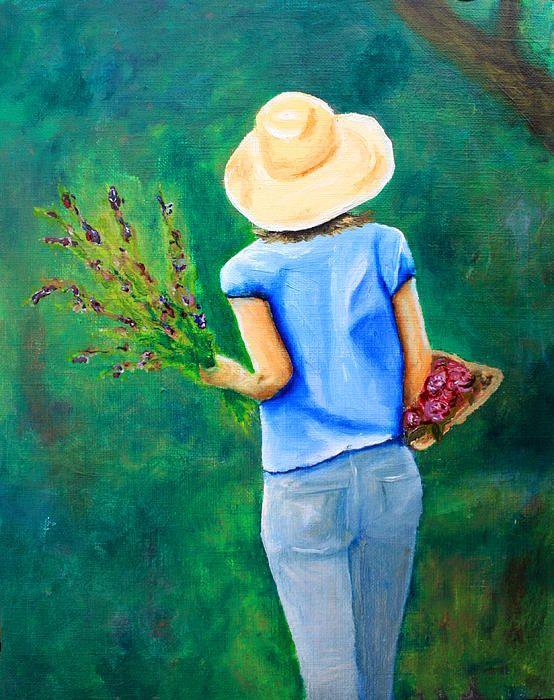 Walk In The Backyard + Ideen Für Das Wohnzimmer + Canvas Print +  Leinwanddruck + Wohnzimmer + Living Room + Dekoration + Kunst + Art +  Painting + Malerei
