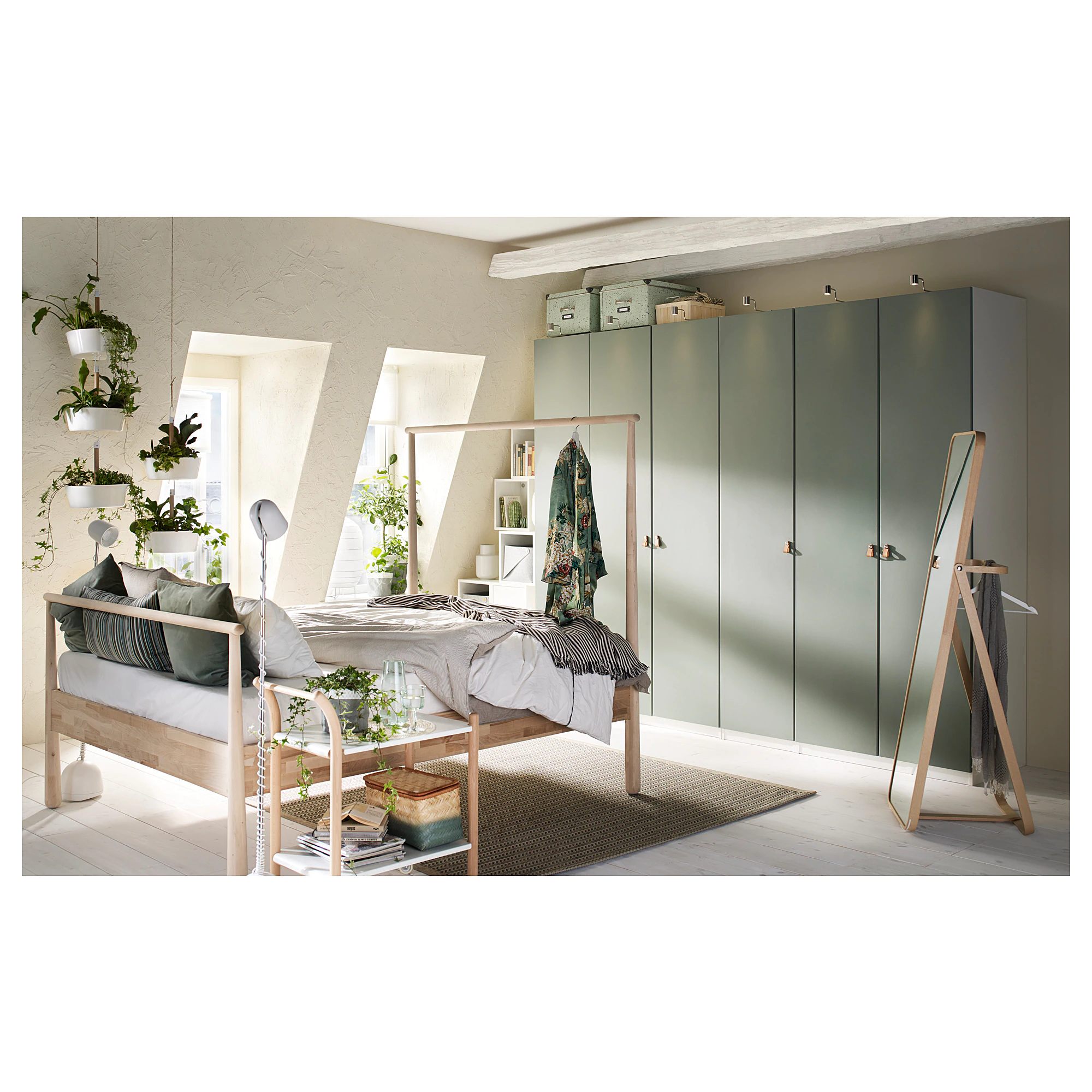 IKEA REINSVOLL Gray-Green Door with hinges nel 2019