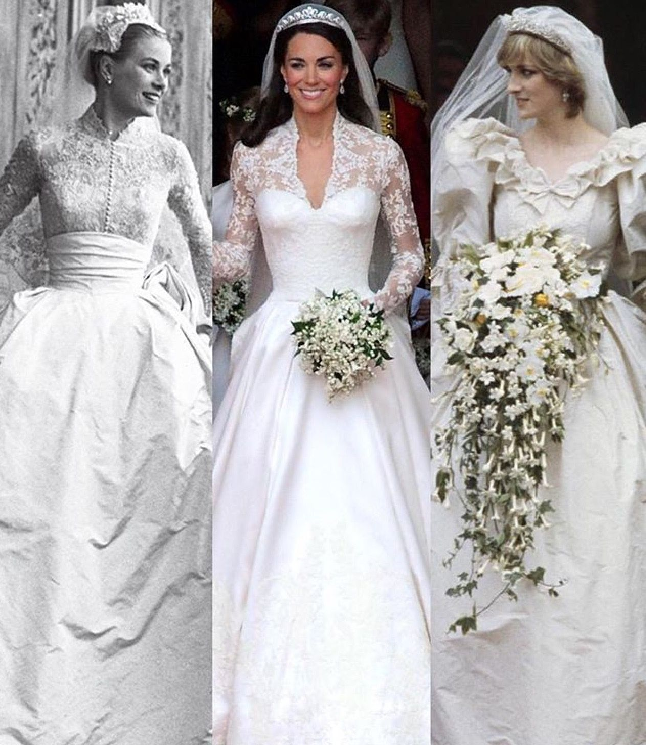 Past Royal Wedding dresses... What will Meghan Markle wear