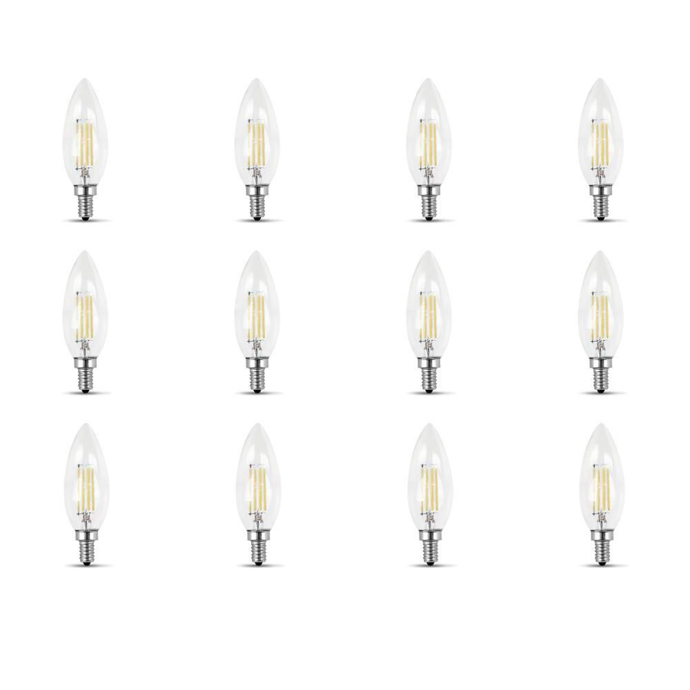 60w Equivalent Daylight 5000k B10 Candelabra Dimmable Filament Led Clear Gla Clear Glass Chandelier Different Light Bulbs