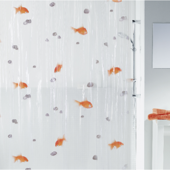 Badeforhaeng Goldfish Guldfisk Bathroom Shower Curtains