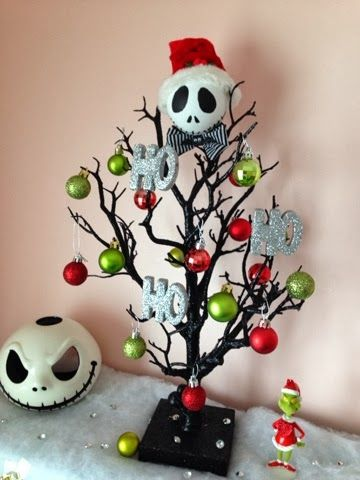 jack skellington christmas tree made by serena bee nightmare before christmas - Jack Skellington Christmas Decorations
