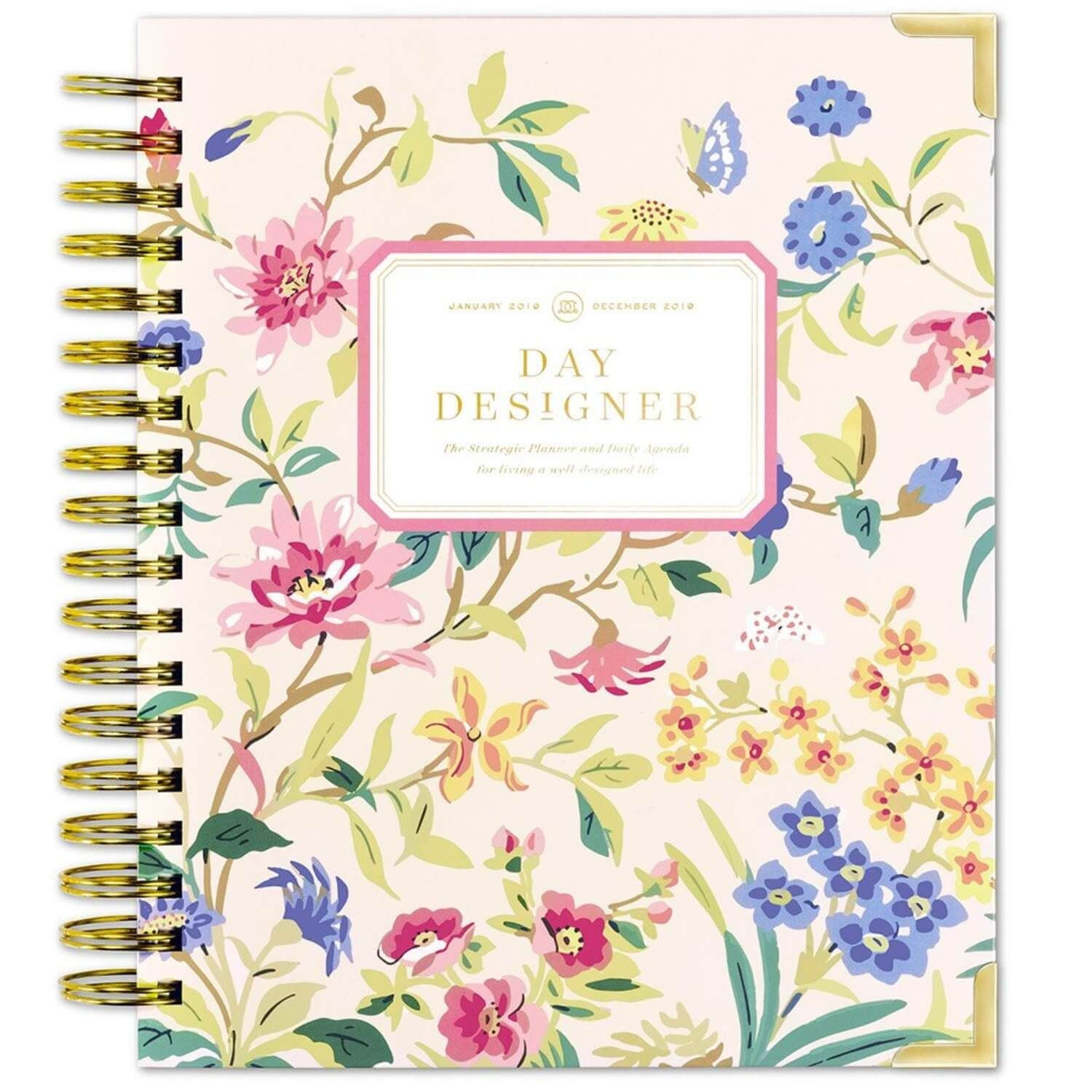Day Designer Climbing Floral Daily Planner Dated January