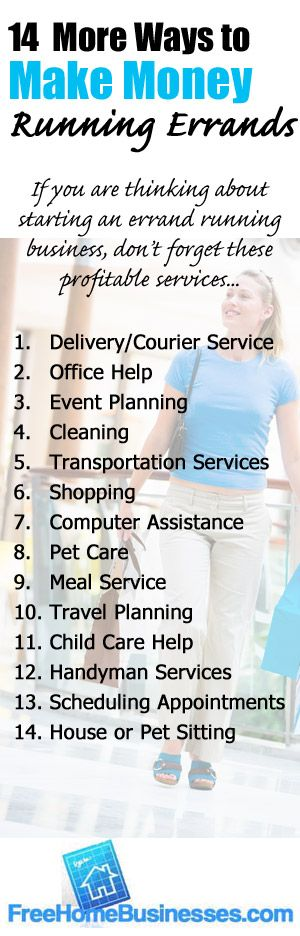 14 Ways To Make Extra Money With An Errand Running Business This Is A Simple Way Earn Part Time Especially During The Holidays