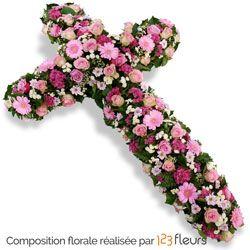Stauros Croix De Fleurs Deuil Fleurs Deuil Fleurs Enterrement