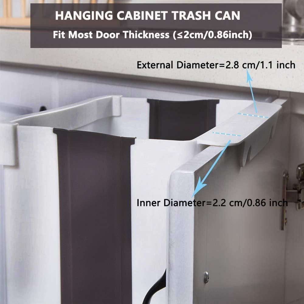 Collapsible Hanging Trash Can In 2020 Trash Can Cabinet Doors Trash