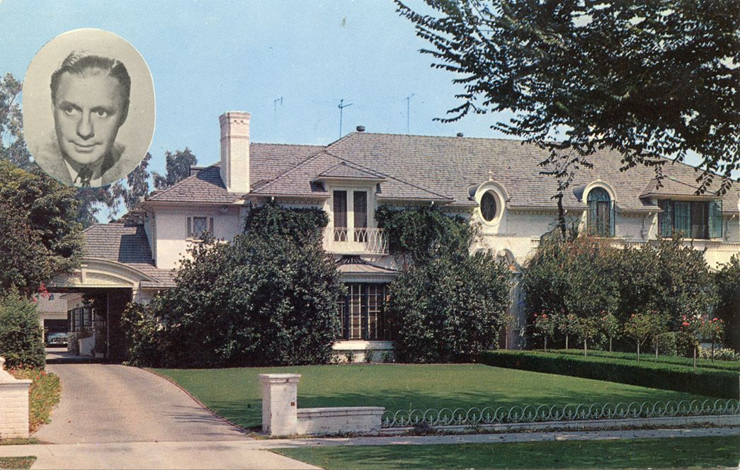 Vintage Hollywood Homes jack benny's home - beverly hills, california and a 1945 family
