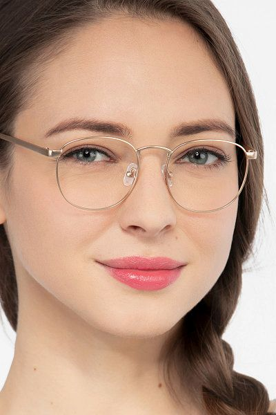 891df7b3ea2f St Michel Golden Metal Eyeglass Frames for Women from EyeBuyDirect, Front  View