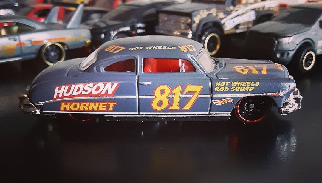 Hudson Hornet.  Be sure to like and follow!  #hudsonhornet #hotwheels  #Mattel #Toys #Cars #Diecast #diecastcollector #ClassicCars #VintageCars #diecastcars #OldCars #toyphotography #toycollector #diecast164 #164scale #hotwheelspics #carphotography #hotwheelscollector #ToyCars