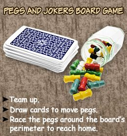 Rules For Playing Pegs And Jokers Board Game Pegs And Jokers Fun Board Games Board Games