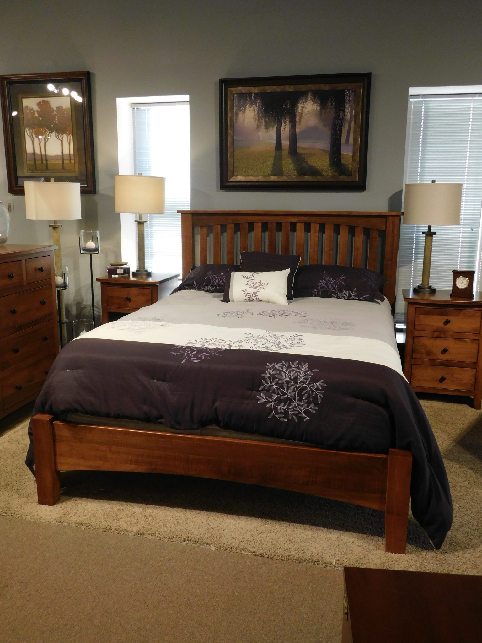arch mission bed with low footboard  bedroom furniture