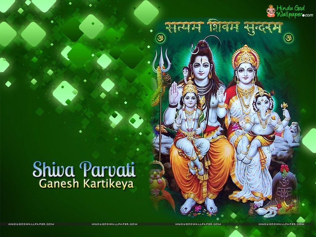 Shiva Parvati Ganesh Kartikeya Wallpaper Shiv Shakthi Pinterest