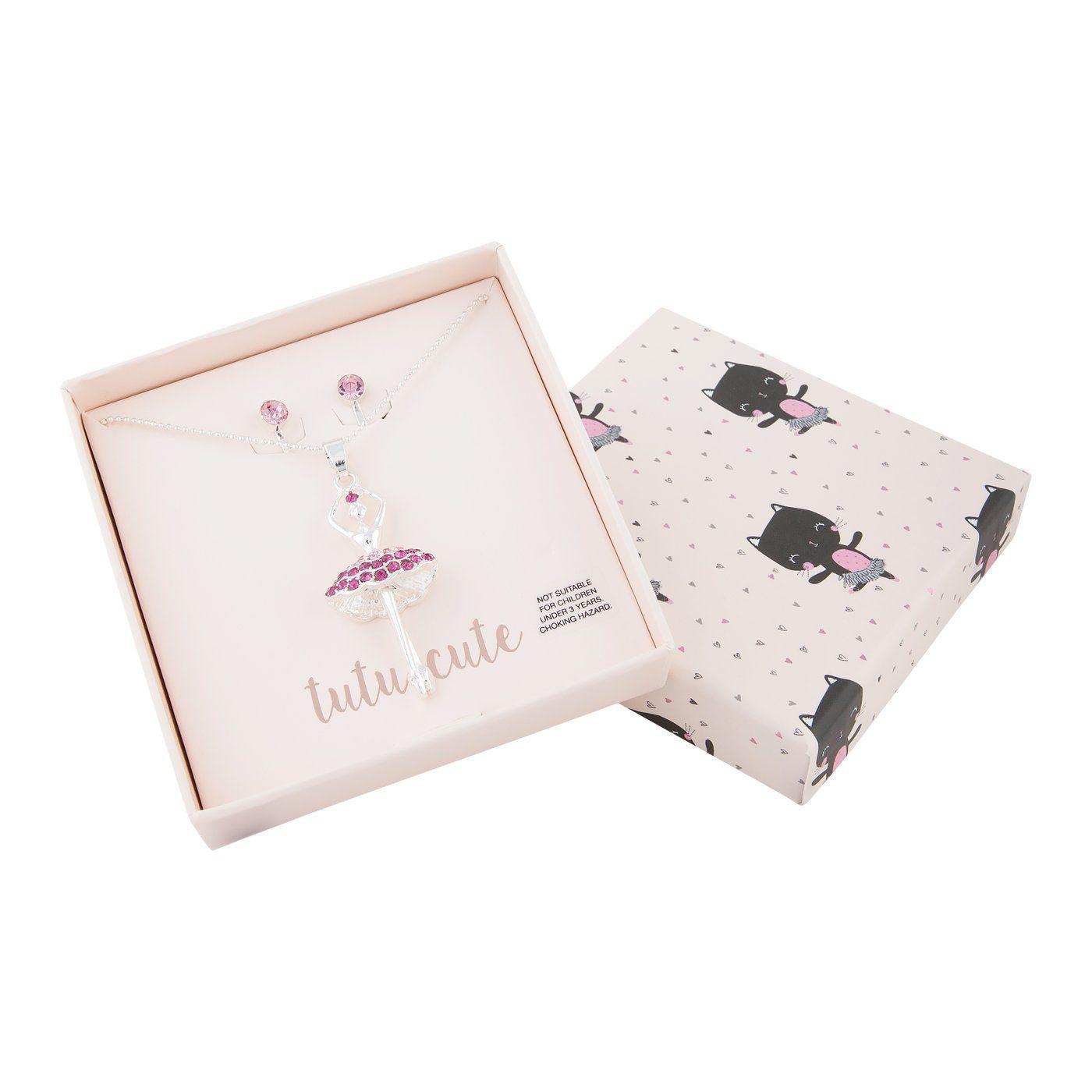 Kids Ballerina Tutu Necklace Gift Box In 2019 Kids Jewellery