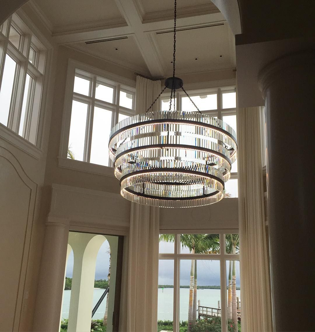 Three Rings Of Hand Beveled Crystals For This Grand Foyer