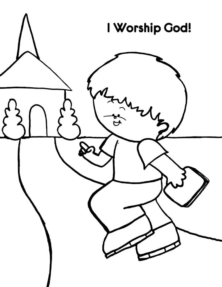 god coloring pages kids - photo#4
