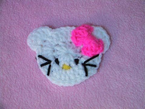 Πλεκτη Απλικε hello kitty hello kitty applique crochet tutorial
