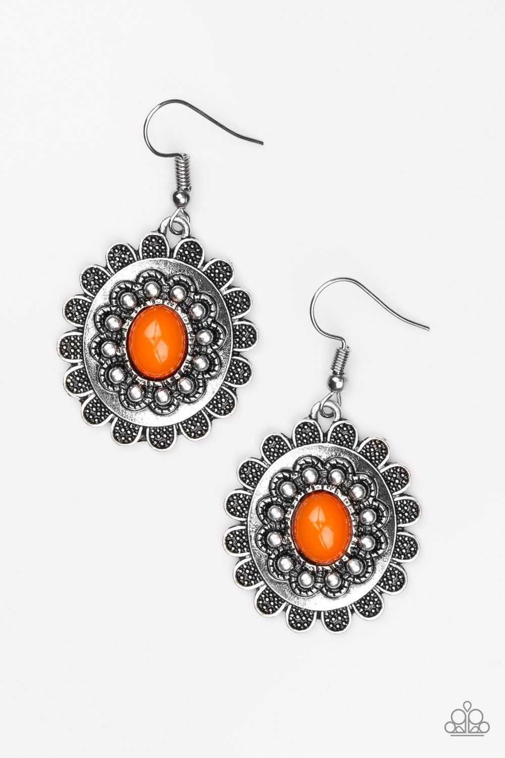 Summer Blooms Orange Earrings