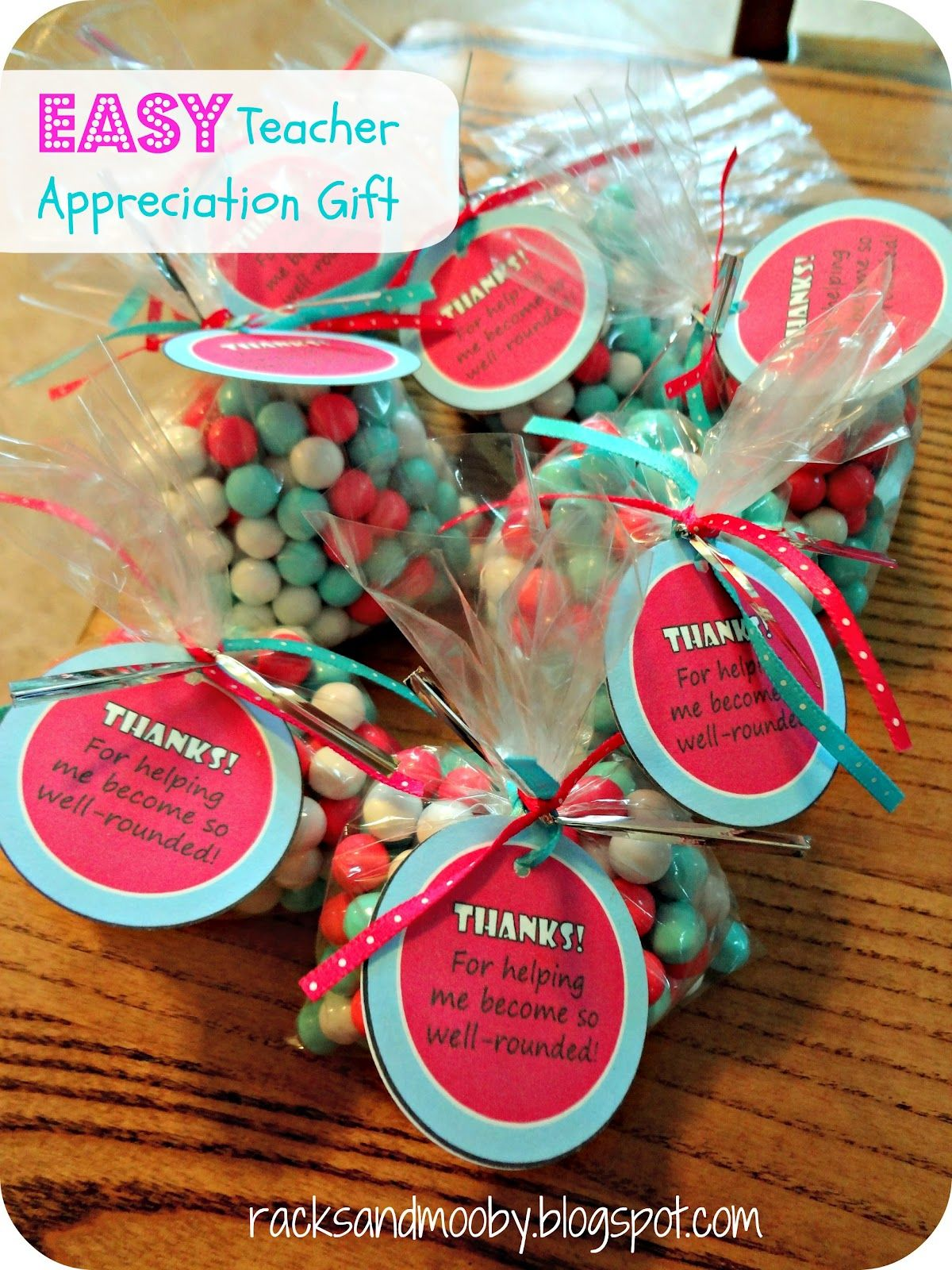 Inexpensive And Easy Teacher Reciation Gifts Super Cute Using Sixlets