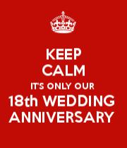The Keep Calm O Matic 18th Wedding Anniversary 18th Anniversary Anniversary Gifts For Parents