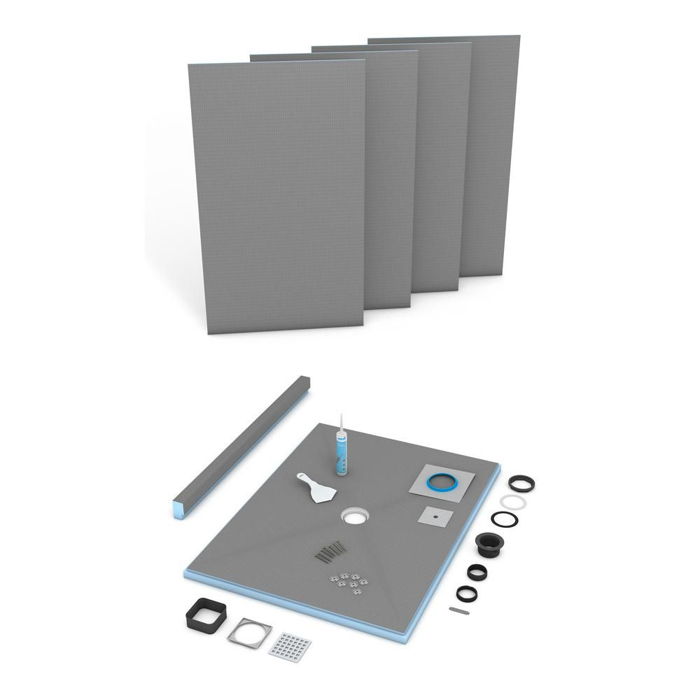 Wedi Fundo Primo 36 In X 72 In Shower Kit With Offset Drain