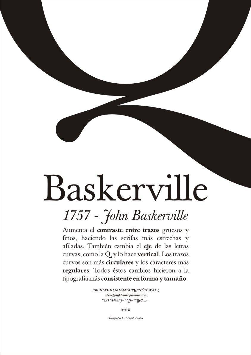 Baskerville, John Baskerville. The large