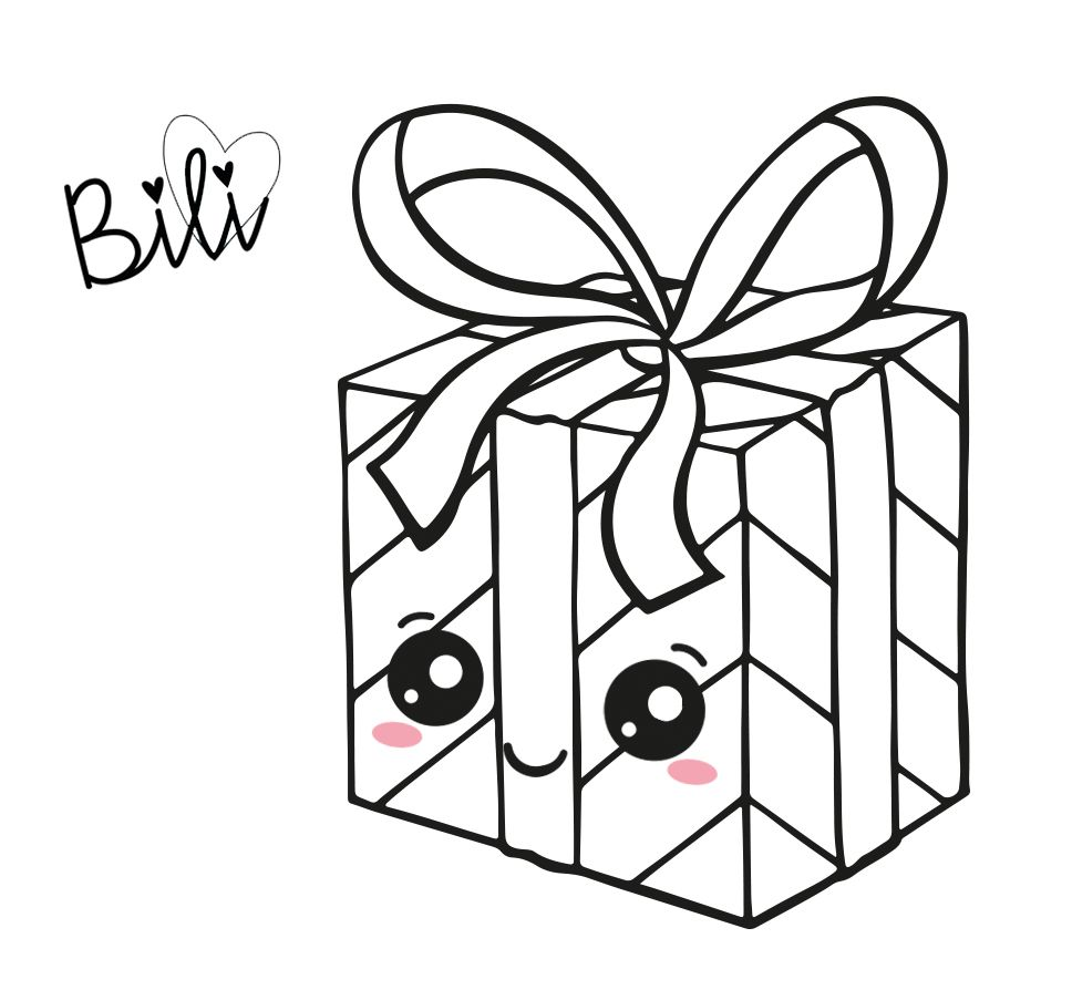 Kawaii Christmas Gift Box Cute Christmas Present Caja De