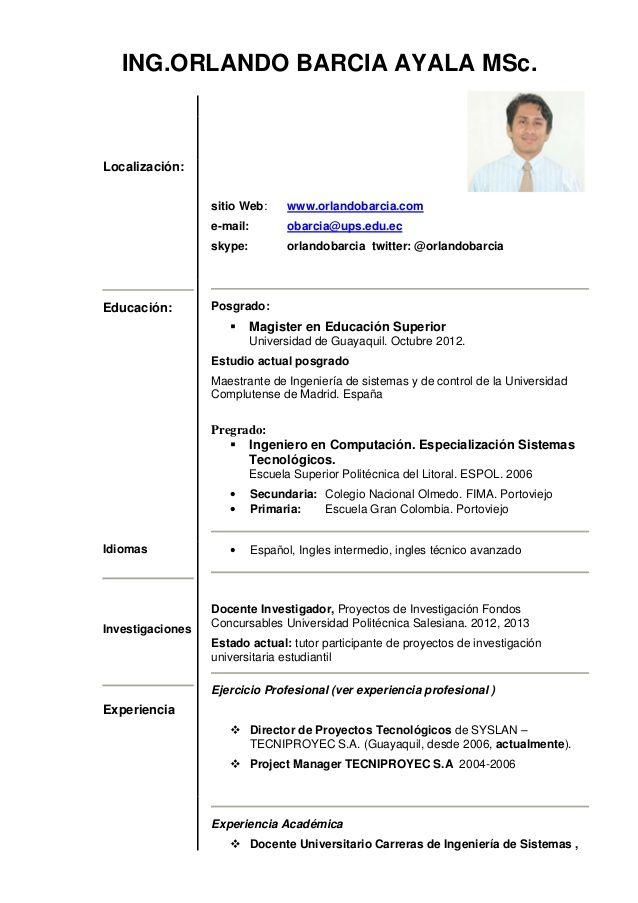 Curriculum Vitae 1 Hoja Modelo De Curriculum Vitae Hoja De Vida Modelos De Curriculum Vitae Curriculum Vitae