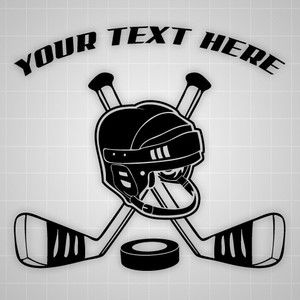 Details About Hockey Wall Car Decal Personalized Sticker Custom Hockey Sticks Helmet Sticker Custom Hockey Stick Personalized Hockey Gifts Hockey Decals
