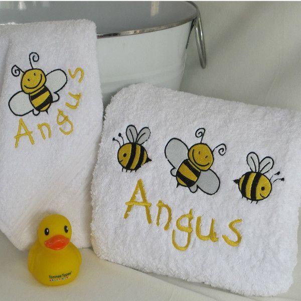 Personalised baby bath towel set personalised baby gift hampers personalised baby bath towel set negle Images
