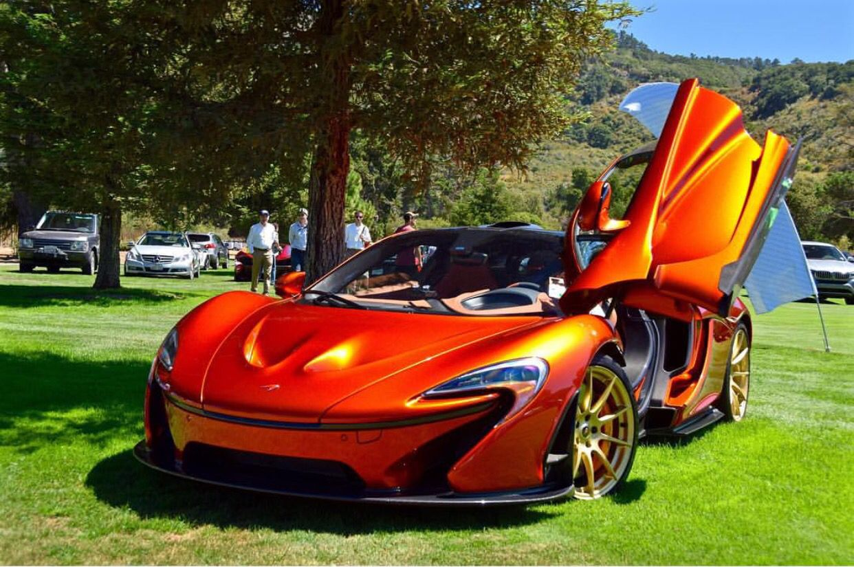 McLaren P1 Painted In Volcano Orange W Gold Factory Wheels Photo Taken By