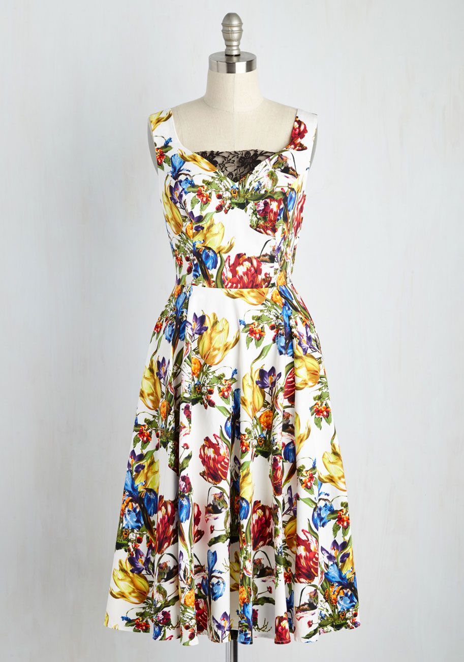 Wedding attendee dresses  Automatic Classic Midi Dress in Deco  ModCloth Conditioning and Spring