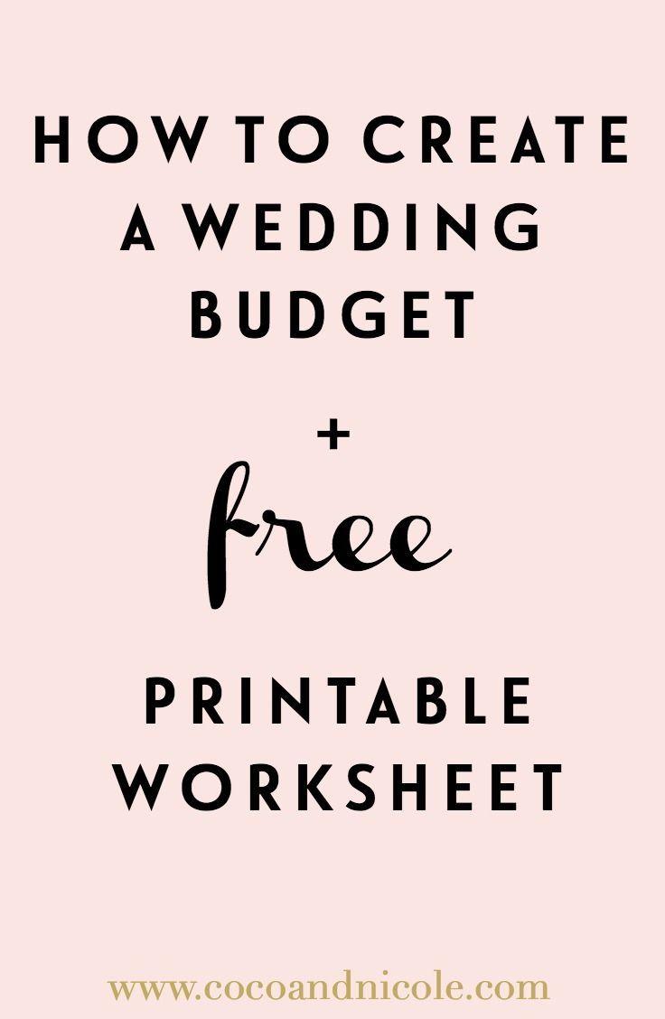how to create a wedding budget printable worksheet wedding