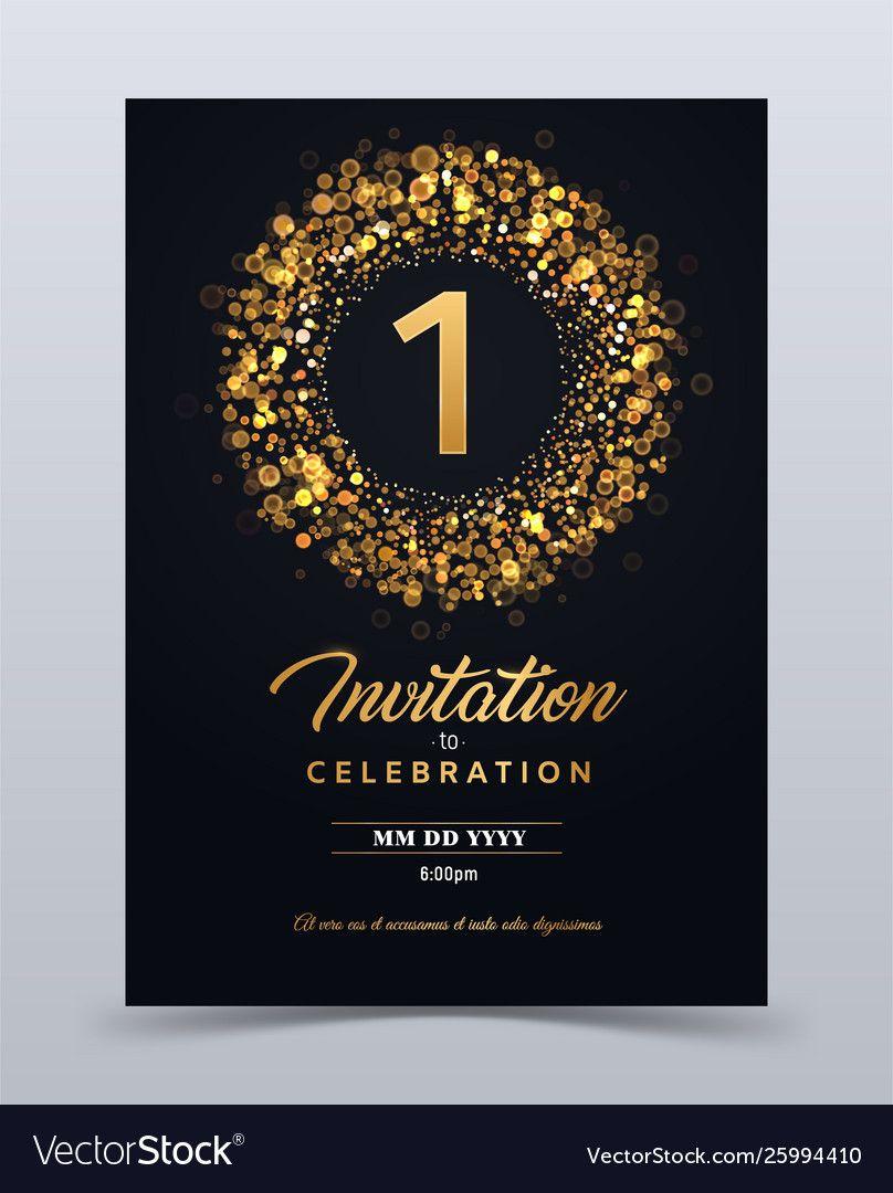 1 Year Anniversary Invitation Card Template Pertaining To Template For Annive Wedding Anniversary Cards Anniversary Invitations Wedding Anniversary Invitations