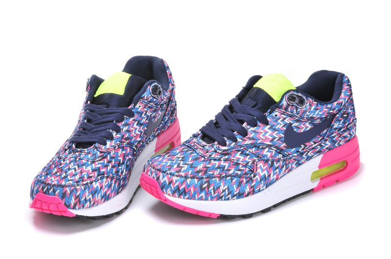 Hot Sale Nike Air Max Womens 2014 White/Orangered/Neon Green/Black Logo Running Shoes OnlineValentin