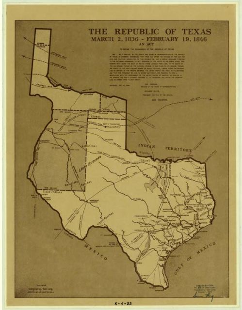 Republic Of Texas Map Pin by Brittnee Toomer on History lessons in 2019 | Republic of